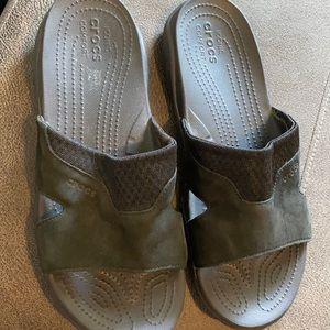Men's black crocs slides sz 13